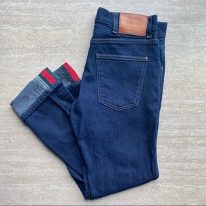 Gucci Tapered Jeans with Mesh